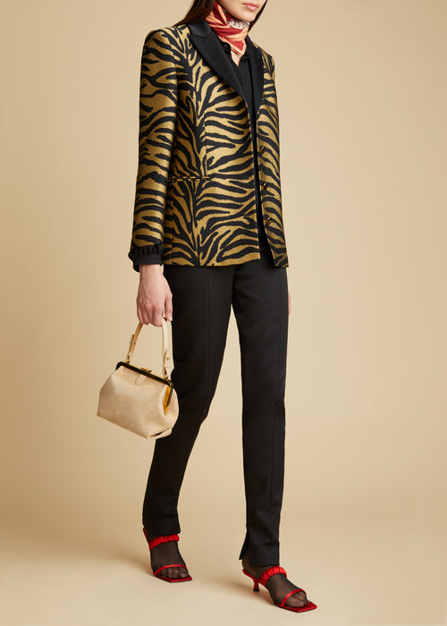The Joan Blazer in Gold Zebra