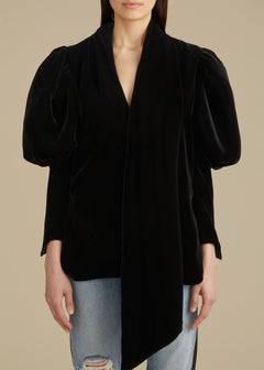 The Jones Top in Black Velvet
