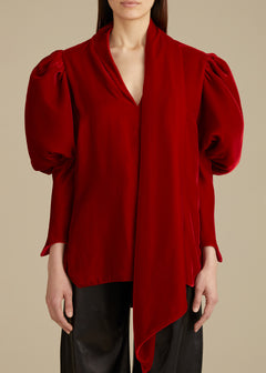 The Jones Top in Ruby Velvet