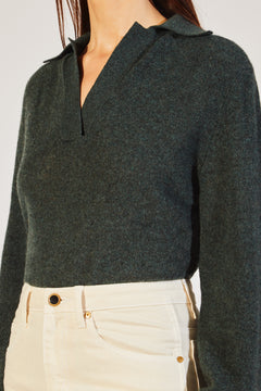 The Jo Sweater in Forest Green