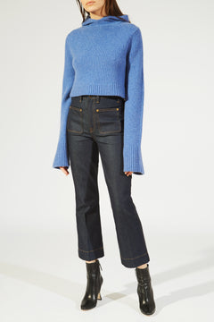 The Josephine Sweater in Sky Blue