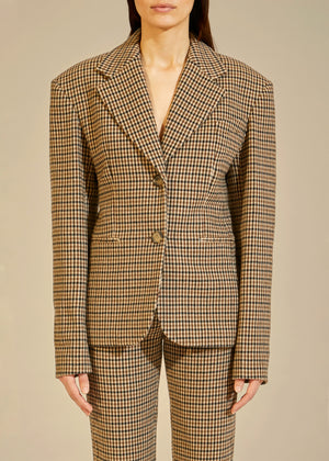 The Kendall Blazer in Brown Check