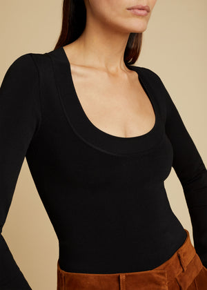 The Kerry Bodysuit in Black