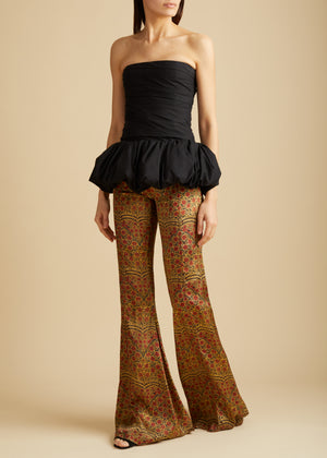 The Stockard Pant in Red Paisley
