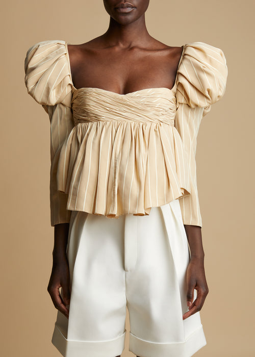 The Kim Top in Beige