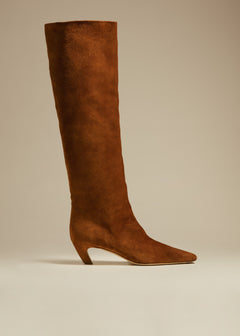 The Davis Boot in Caramel Suede