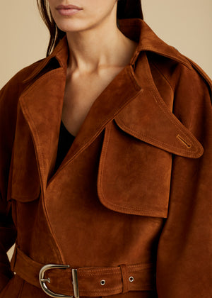 The Krista Jacket in Cocoa Suede
