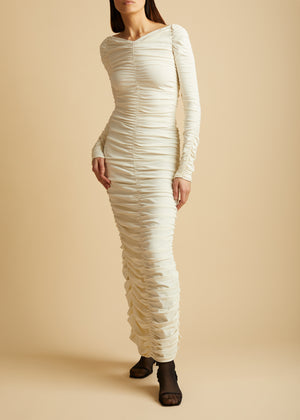The Lana Dress in Ivory
