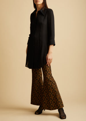 The Charles Pant in Gold Jacquard