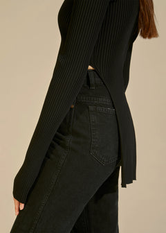 The Lilia Sweater in Black