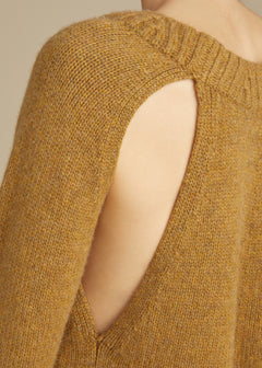 The Liz Cutout Sweater in Fawn