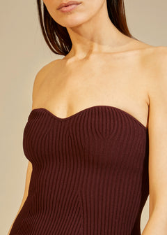 The Loie Dress in Oxblood