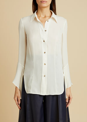 The Lottie Top in Ivory