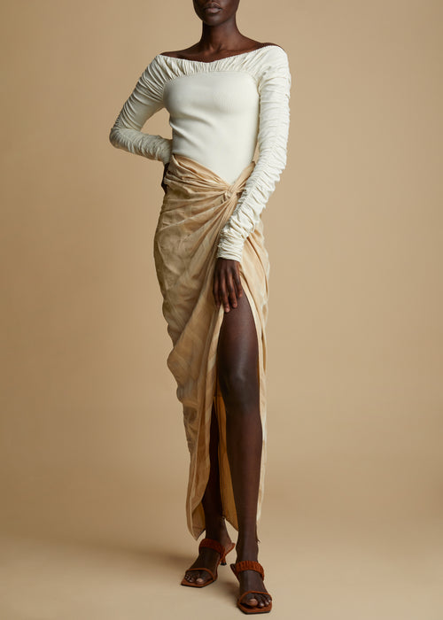 The Louie Skirt in Beige