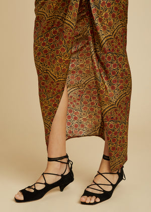 The Louie Skirt in Red Paisley