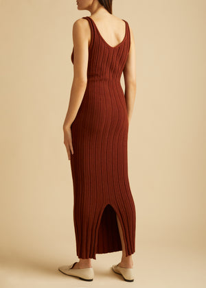 The Louis Dress in Mahogany