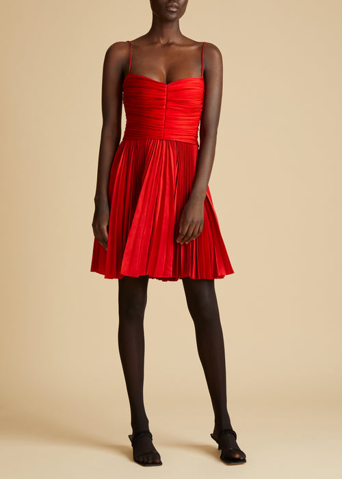 The Lou Lou Dress in Scarlet
