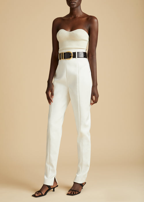 The Lucie Top in Cream