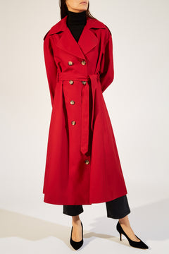 The Lauren Trench in Currant