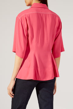 The Leila Top in Bright Pink