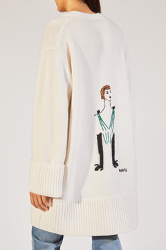 The Lucia Lady Cardigan in White