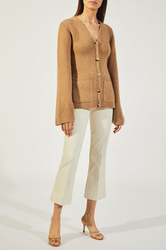 The Lucy Cardigan in Camel