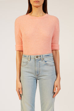 The Lydia Sweater in Salmon