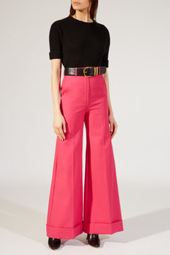 The Beatrice Pant in Bright Pink