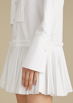 The Malin Dress in White