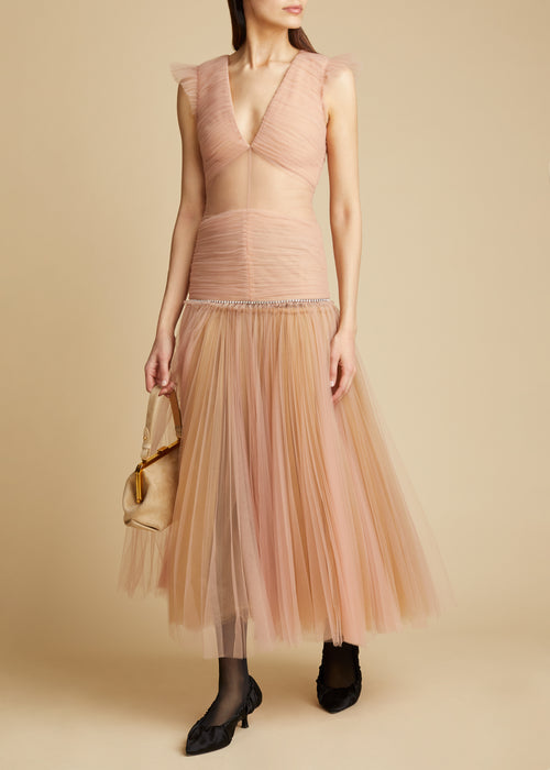 The Mariah Dress in Light Peach
