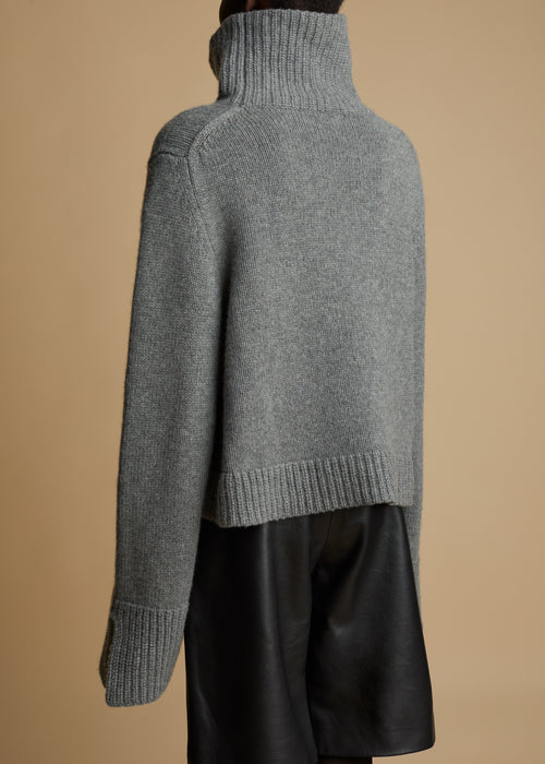 The Marion Sweater in Smoke