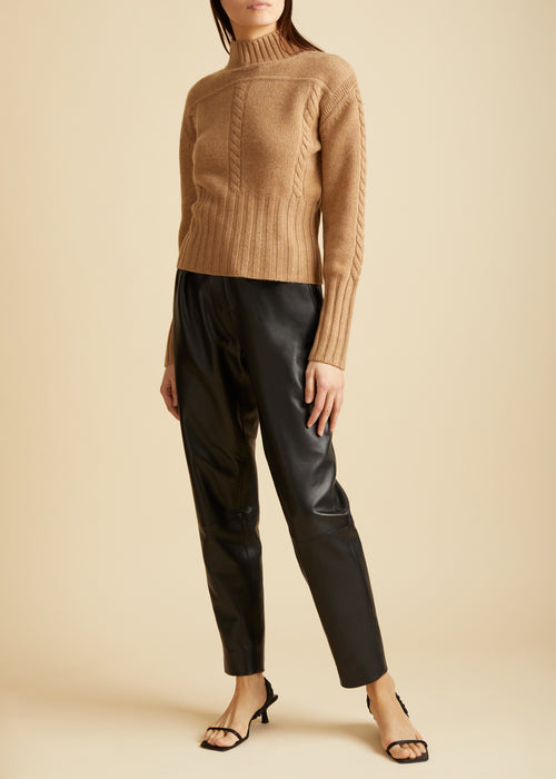 The Maude Sweater in Camel