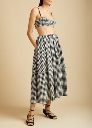 The Meryl Skirt in Gingham