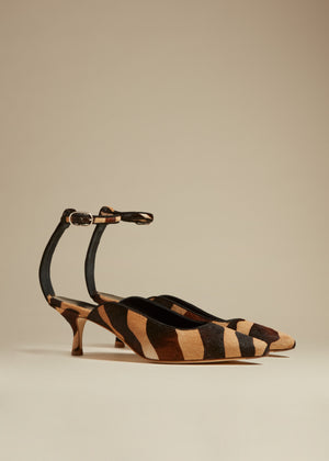 The Sterling Heel in Zebra Haircalf
