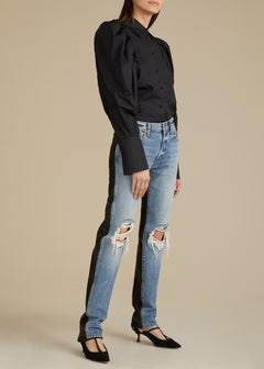 The Kyle Mixed Jean in Black