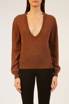 The Mallory Sweater in Tobacco