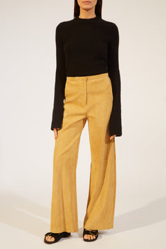The Charlize Pant in Sand Suede