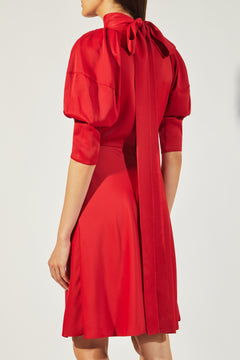 The Marina Dress in Crimson