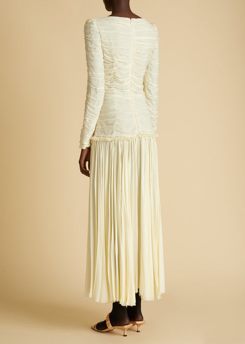 The Nanna Dress in Ivory