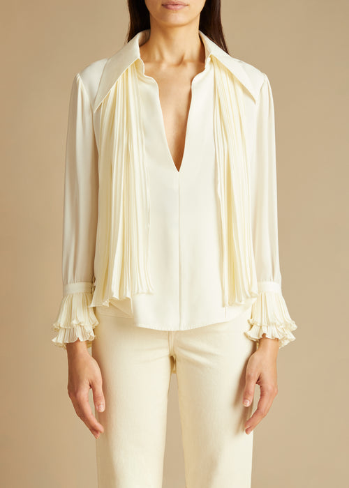 The Nia Top in Ivory