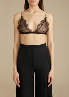 The Pasquale Bralette in Black Sparkle