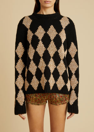 The Penny Sweater in Black and Natural