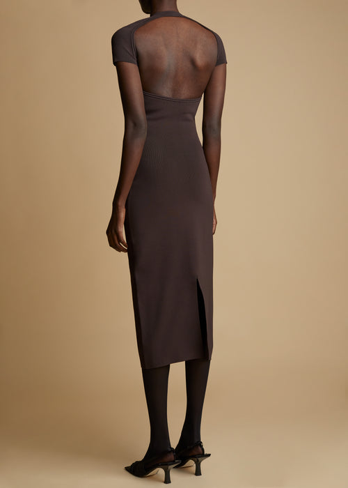 The Piera Dress in Chestnut