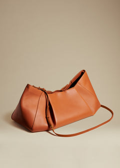 The Large Jeanne Bag in Cognac Leather