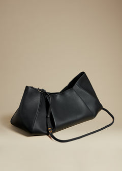 The Large Jeanne Bag in Black Leather