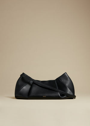 The Small Jeanne Crossbody Bag in Black Leather