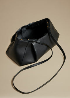 The Small Jeanne Bag in Black Leather