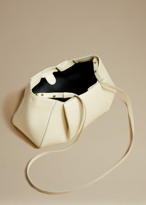 The Small Jeanne Crossbody Bag in Cream Leather