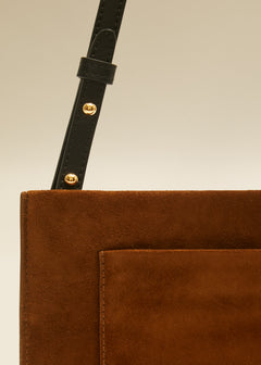 The Pocket Pouch in Caramel Suede
