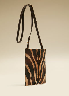 The Lillian Pocket Pouch in Zebra Haircalf